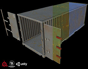 3D model low-poly Game Ready Cargo 3 color