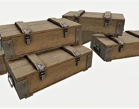 Ammunition Wood Crates 02 - PBR 3D model