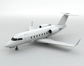 Bombardier Challenger 600 Aircraft 3D model