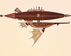 3D model Air ship steampunk