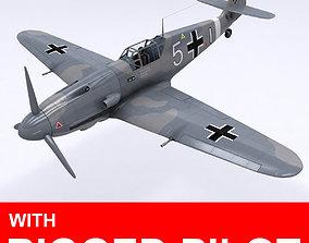 Messerschmitt BF109 F1 3D model animated