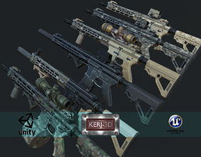 3D model Modular Combat Rifle-Carbine Variant