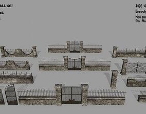 3D model realtime wall set