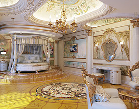 3D interior master classical bedroom