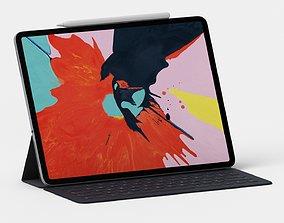 Apple iPad Pro 2019 12 Inch With Apple Pencil 3D model 2