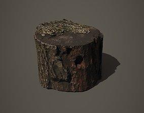 Tree stump 3D asset game-ready PBR