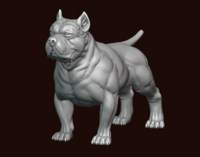 3D printable model fighting American Bully