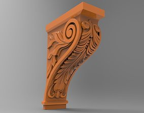 Carved CNC 3D print model ornament