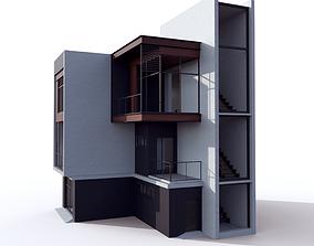 House Modern Villa 02 3D asset