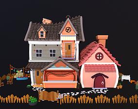 3D Asset - Cartoons - Background - House