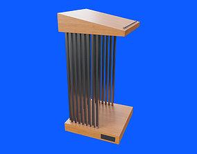 Pulpit curtain 3D asset