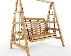 3D model Wooden Swing 11
