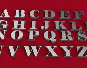 ELEPHANT font uppercase and lowercase 3D letters STL file
