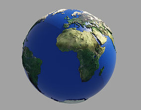 Earth Globe HD 3D model