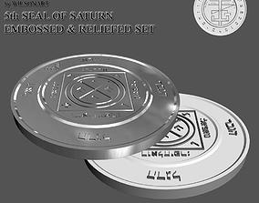 3D print model 5th Seal of Saturn