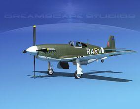 North American Mustang X RAAF V01 3D