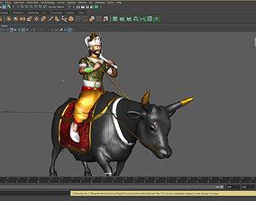 Yama on his bull 3D model
