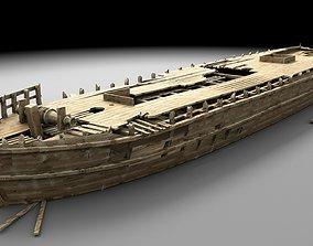 3D Wooden shipwreck 1