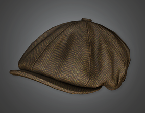 3D model HAT - Newsboy Hat - PBR Game Ready