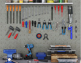garage tools set 1 3D model