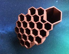 3D print model Honeycomb pencil organizer and