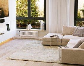 Modern Apartment Interior Scene and Corona Render 3D