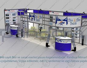Den-Den exhibition stand design 3D