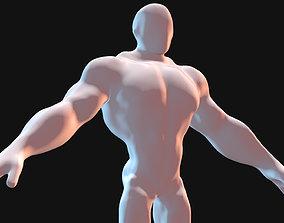 3D model Cartoon Faceless BaseMesh Man