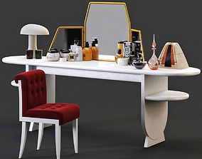 3D Dressing Table With Cosmetics