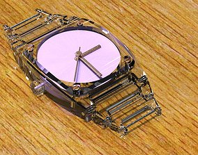 3D print model Crystal Sapphire Watch Case for ENLOONG 1