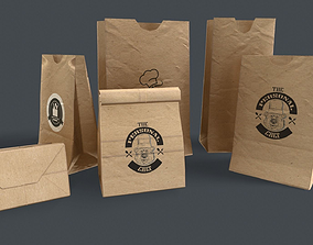 Paper Bag PBR Game Ready 3D model