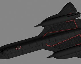 3D asset Lockheed SR-71 Blackbird