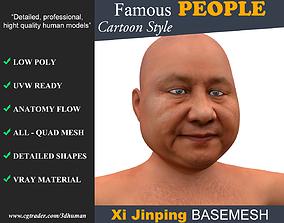 3D model Low poly Character Cartoon Basemesh - Xi Jinping