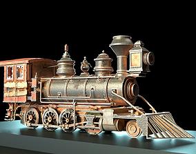 3D model Rustic Steam Train Locomotive