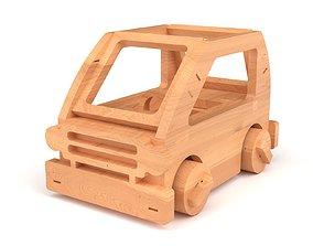 Wooden toy car 51 3D