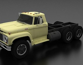 T-Series T-850 Truck Chassis Tandem Axle 1964 3D model