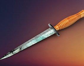 Dirk knife Fairbairn Sykes dagger 3D model