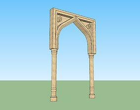 rigged indian jodhpuri stone arch 3d modal