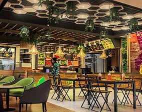 Smoothie restaurant 3D