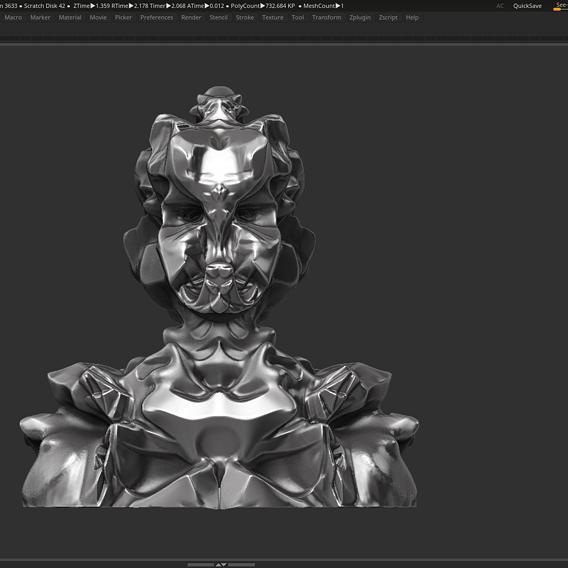 Robot bust 3d print model