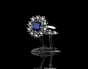 3D printable model Ring Blue Diamond