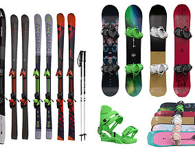 3D Snowboards and skiing