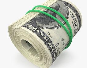 3D 100 Dollar Bill Roll