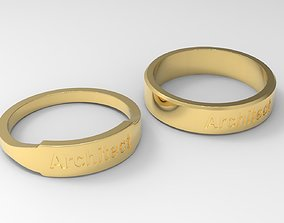 jewelry Architect Couple Ring Gold 3D printable model