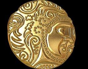3D printable model celtic coin