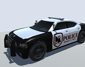 game-ready Dodge Charger Police car low-poly 3d model