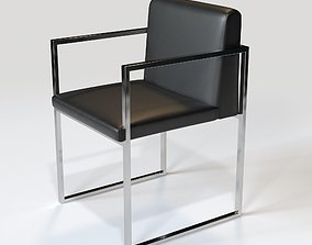 Modern Rustic Dining Chair 3D model