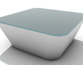 3D asset Low Beveled Cube Coffee Table
