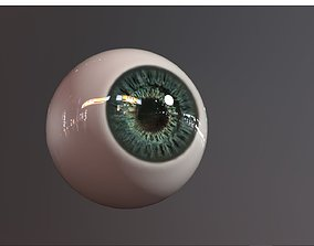 3D asset eye photorealistic lowpoly 2 colors