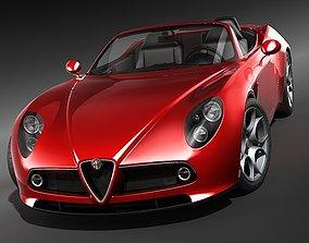 3D model Alfa Romeo 8c Spider